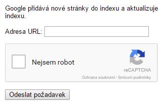 google indexování