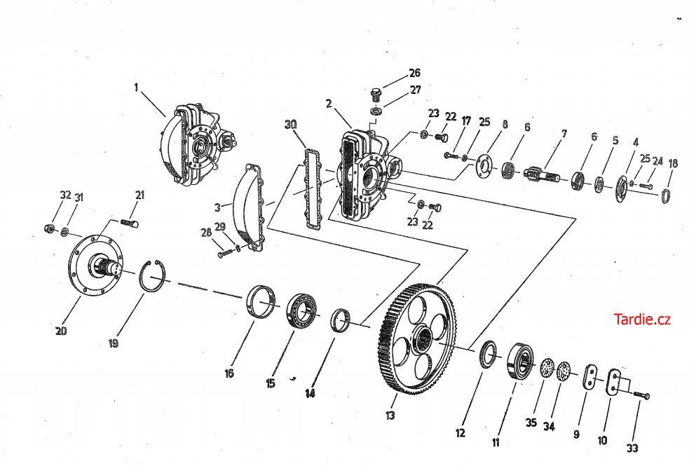 Čelní ozubený převod E-512
